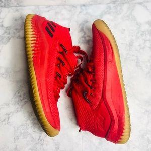 Adidas APE Red Sneakers- 5.5 Big Kids/ 7 Ladies